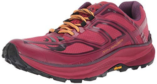Topo Athletic Women's MTN Racer Trail Running Shoe, Berry/Gold, Size 9