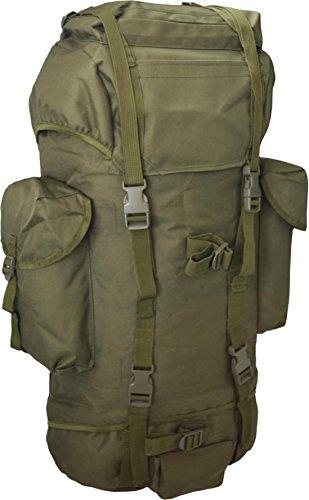 normani Rucksack, ideal zum Wandern, großes Fassungsvermögen 65 Liter, viele Taschen Farbe Oliv