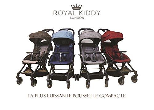 Royal Kiddy London© Air Transporter Poussette Portable Compact – gratuit Repose-pieds Cover, Housse de pluie, Moustiquaire, poussette Sac de voyage (Bleu)