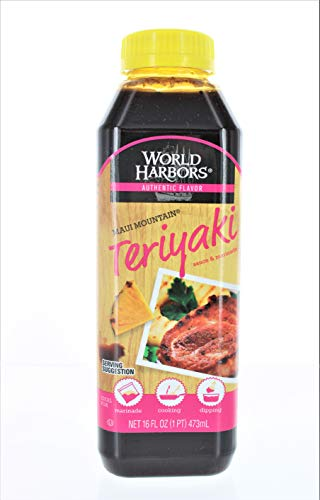 World Harbors Maui Mountain Teriyaki Marinade & Sauce - 16 oz (1 pint)