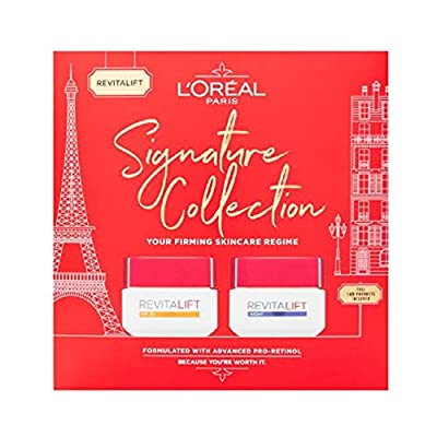 L'Oreal Paris Revitalift Signature Collection SPF Day Cream + Night Cream Skincare Anti Wrinkle Gift Set For Her by Loreal