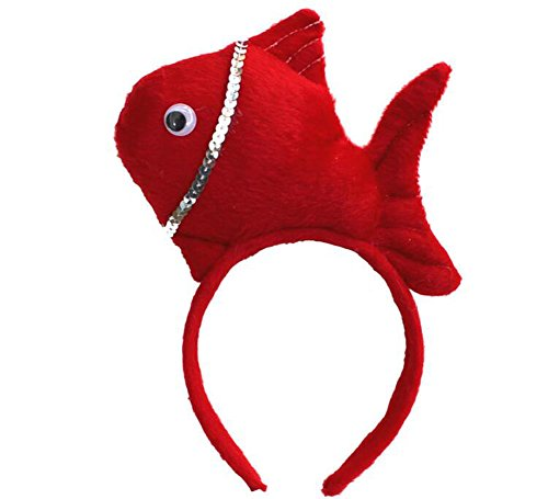 Blancho 2 Pièce Creative Performance Props Lovely Red Fish Headband