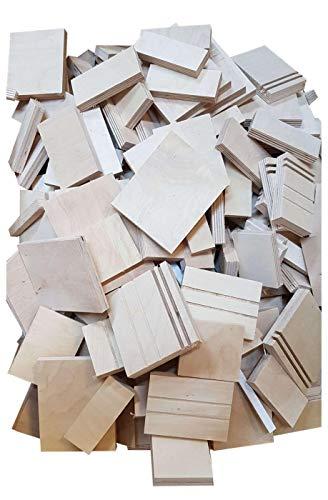 4-20kg Birke Multiplex Sperrholz Reste Holz Bastler Holzleiste Platten Zuschnitt unbehandelt Natur von Alsino, wählen:19-20 kg