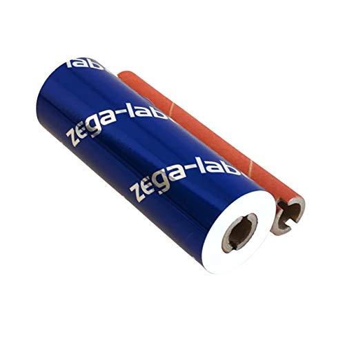 zega-labels Thermotransfer Farbband WEISS 110 mm x 74 m - zega color xtreme (Harz Kratzfest) - 1/2 Zoll Kern Ø 12,7 mm - für PE-/PP-/PET-Folie/Polyesterfolie - für Desktopdrucker Zebra GK/GX/GC/TLP