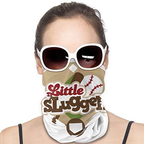 OUY Little Slugger Baseball Atmungsaktiver Nackenschutz Beinschutz Gesichtsmaske Gesichtsschal Turban Sturmhaube Hut Schal Herren und Damen Gesichtsmaske