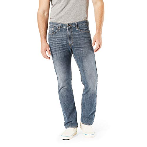 Signature by Levi Strauss & Co. Gold Label Men's Slim Straight Fit Jeans, Elk, 32W x 30L