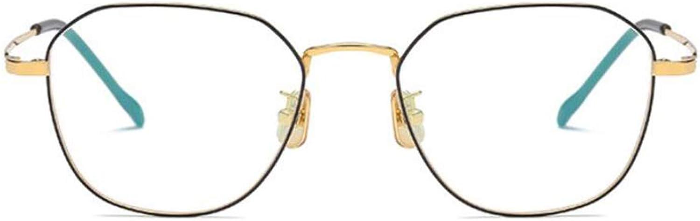 Glasses, Polygonal Glasses, Metal Frame, Men's and Women's Flat Glasses (color    2)