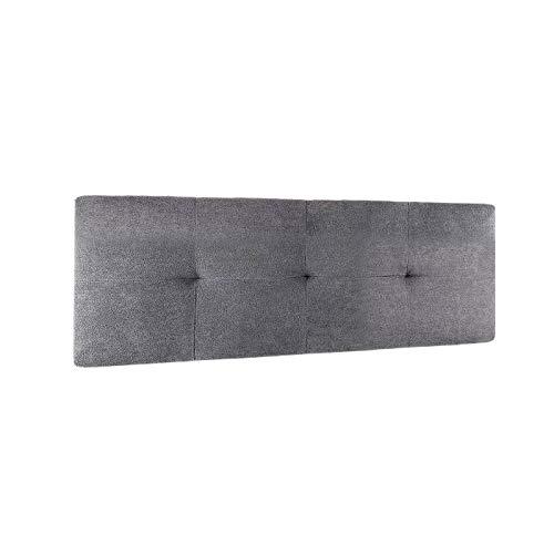 Supercolchon- Cabezal Cama, cabecero tapizado Jensen 105 X 50 y 150 X 50 para Cama Individual y de Matrimonio Acolchado con Espuma de 3 cm no Incluye herraje para Colgar (105_ X_ 50_ cm, Gray)