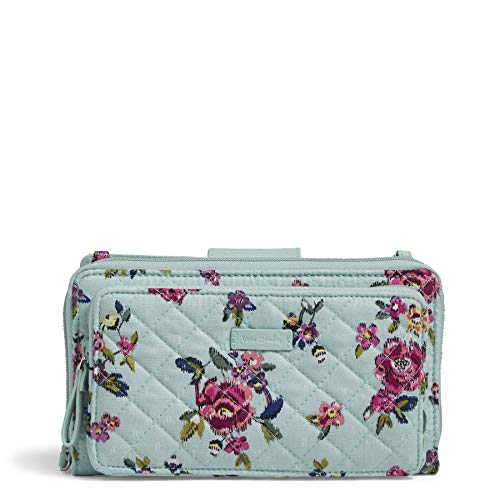 Vera Bradley Signature Cotton Deluxe All Together Crossbody Purse with RFID Protection, Water Bouquet