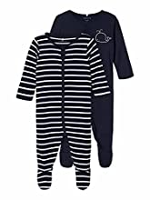 NAME IT Nbmnightsuit 2P W/F 2 Noos Pijama, Azul Oscuro (Dark Sapphire), 3 años para Bebés