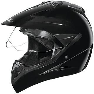 Studds Motocross with Visor Helmet in Black