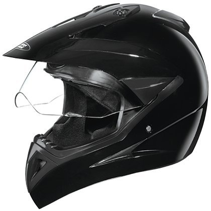 Studds Motocross with Visor Helmet in Black