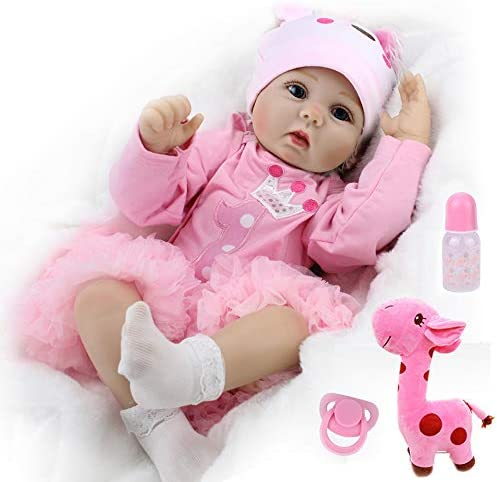 CHAREX Realistic Reborn Baby Dolls Real Looking Lifelike Dolls for Girls 22 Inch Handmade Weighted product image