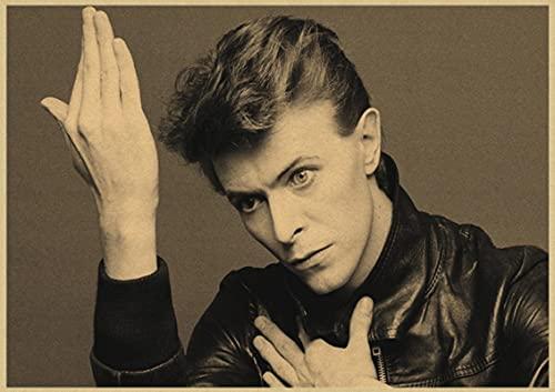 Impresión de lienzo 60x90cm Sin marco David Bowie Retro rock band música guitarra cartel decoración del hogar
