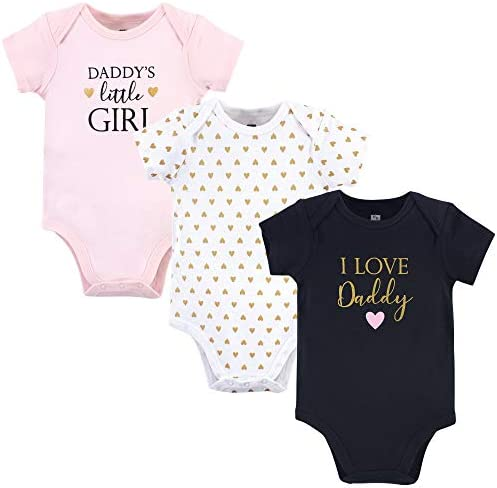 Hudson Baby baby boys Cotton Bodysuits and Toddler T Shirt Set Girl Daddy 9 12 Months US product image
