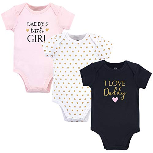 Hudson Baby baby boys Cotton Bodysuits and Toddler T Shirt Set, Girl Daddy, 9-12 Months US