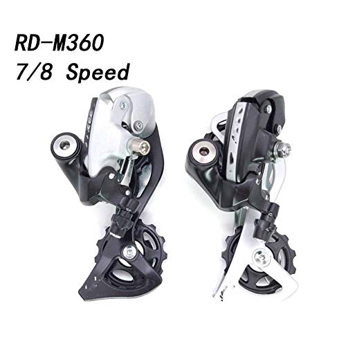 Lijincheng Transmisión de Bicicleta RD M360 7 8 Velocidad De La Bici Cambio Trasero 21s 24s MTB Mountain Cambiadores De Bicicleta Derailleurs (Color : RD M360 Black)