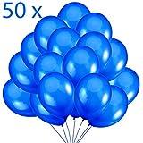 Jonami 50 Palloncini Blu in Lattice Premium. Palloncini per Elio da 36 cm in Blu di 3,2g. Decorazioni e Accessori per Festa di Compleanno
