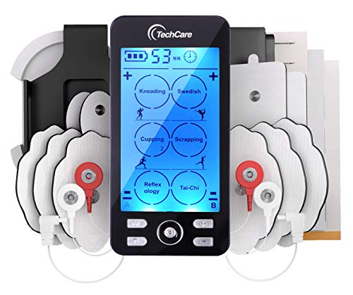 affodable Tens Unit Plus 24, Rechargeable Electronic Pulse Massager with All Accessories Multimode Device [New Model]