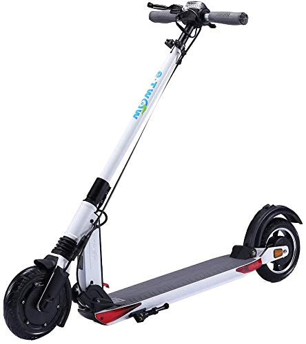 E-twow Booster GT 2020 Smart Edition Electric Scooter with Pack Security | Helmet + Strap & Carrying Handle + Safety Mask | White
