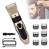 Mens Hair Clippers, AnsTOP Professional hair trimmer Hair Clippers Cordless Haircut Machine Barber Shavers Rechargeable Hair Cutting Tools (gold)
