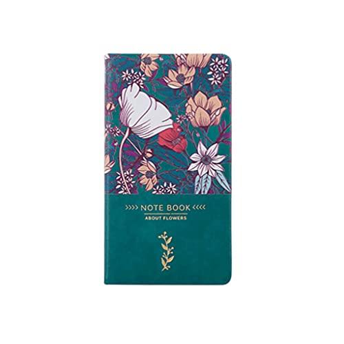 Cuadernos de redacción A6 Escritura Notebook Handbook Portable Diario Libro Pequeño Bloc de Notas Línea Horizontal Dentro Página 96 Hojas Papel (Color : Green+Pink)