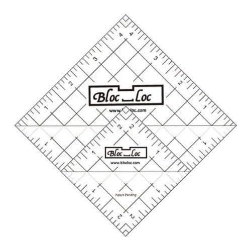 Bloc Loc~Half Square Triangle Ruler Set #6~ 2.5and 4.5 Acrylic Ruler