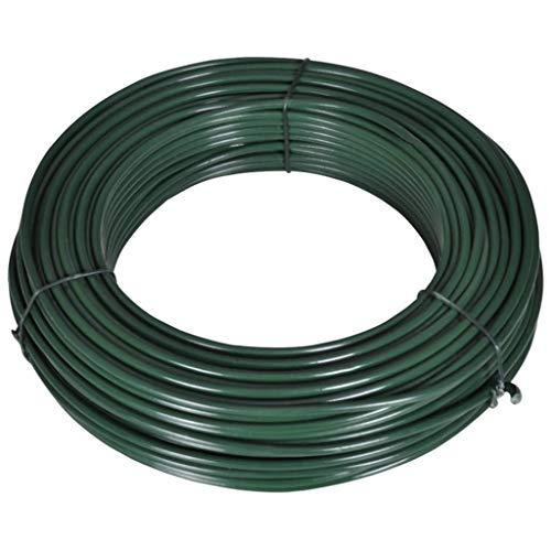 Geniet van winkelen met Hekspandraad 80 m 2,1/3,1 mm staal groen