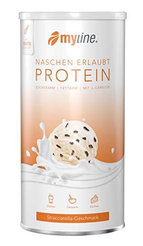 myline Protein Stracciatella - hochwertiges Proteinpulver inkl. Rezeptheft, Verpackungseinheit: 400g Dose