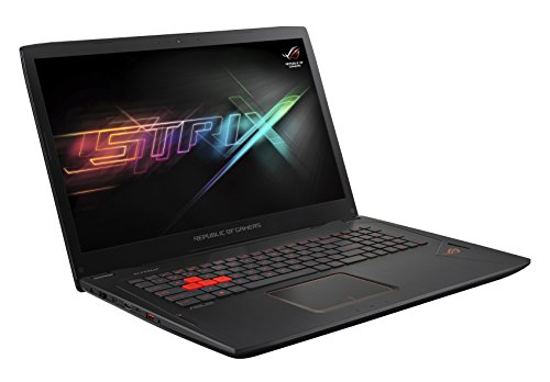 Asus ROG GL702VS-GC066T 43,9 cm (17,3 Zoll, mattes Full-HD Display) Gaming Laptop (Intel Core i7-7700HQ, 16GB RAM Arbeitsspeicher, 256GB SSD, 1TB HDD Festplatte, NVidia GTX 1070 8GB, Win 10) schwarz