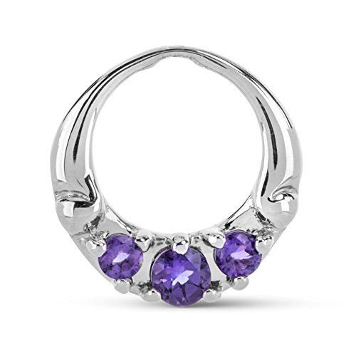 Carolyn Pollack Moments Sterling Silver Amethyst Pendant Frame