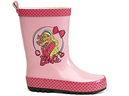 Mattel Barbie - Botas de Caucho para niña Rosa Rosa, Color Rosa,...