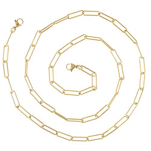 HEALLILY Cadena de Soporte de Gafas de Acero Inoxidable Cadena de Metal para Gafas Correas de Cordón para La Cara Collar de Cordón Conectores de Retención de Vidrio para La Boca Gafas de