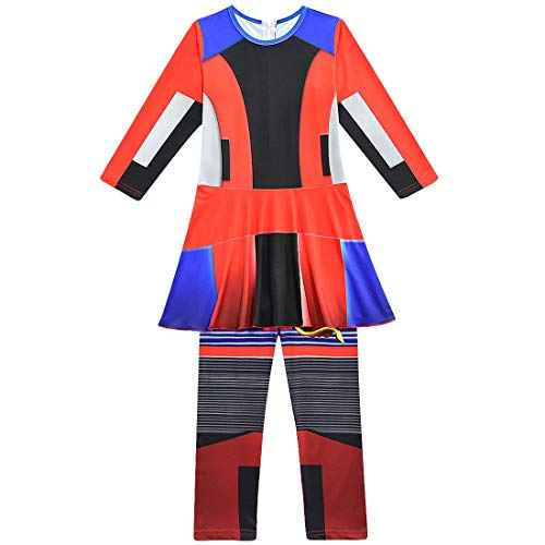 Evie Dress Disfraz de Halloween para niños Adultos, descendientes 3 Mono Cosplay Disfraz Body