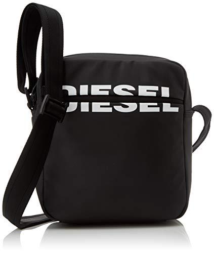 DIESEL Shoes Boldmessage Doublecross Men's Wallet, Black, 8x18x34 Centimeters (W x H x L)