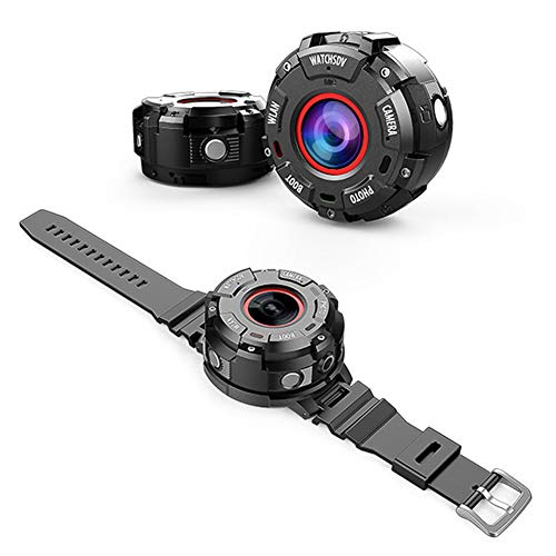 GWSPORT Mini Orologio da Fotocamera, Fotocamera Sportiva Digitale Full HD 1080P, Fotocamera Indossabile WiFi Intelligente, Fotocamera da Esterno Impermeabile