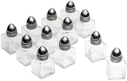 Tablecraft Products Mini Salt & Pepper Shakers, Set of 6 salt & pepper shakers (12 Total Shakers) by Tablecraft Products