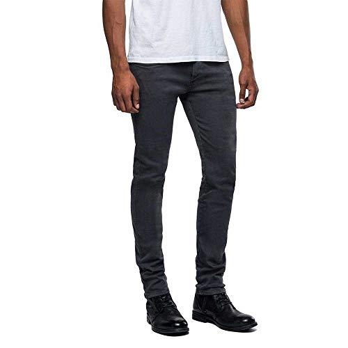 REPLAY Anbass Vaqueros Slim, Negro (Blackboard 290), W33/L32 (Talla del Fabricante: 33) para Hombre