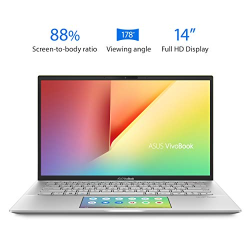"Asus Vivobook S14 S432 Thin and Light 14"" FHD, Intel Core i7-8565U CPU, 8GB RAM, 512GB PCIe Nvme SSD, Ir Camera, Windows 10 Home, S432FA-AB74, Transparent Silver"