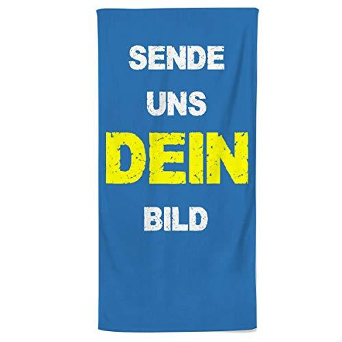 Power Towel Handtuch mit Foto oder Bild selbst gestalten | Personalisiert | Individualisiert | Verschiedene Größen | Fotodruck | POWERTOWEL Foto Handtuch Mikrofaser Baumwolle (90 x 180 cm)