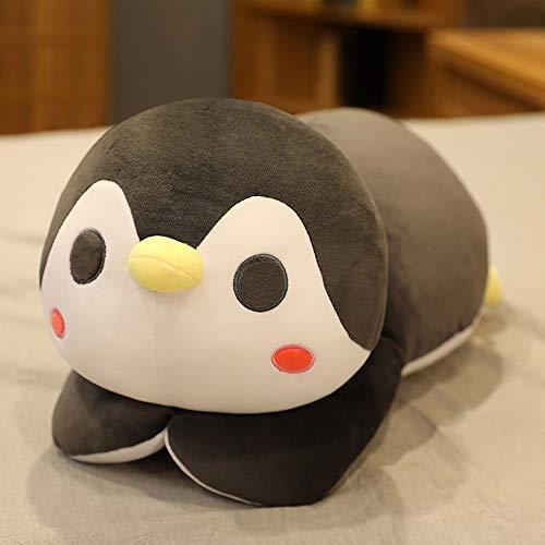 HJHJK Big Soft Fat Pinguin Plüschtiere Gefüllte Cartoon Tierpuppe Modespielzeug für Kinder Baby Nette Mädchen Weihnachten Geburtstagsgeschenk (Color : Gray, Size : 70cm)