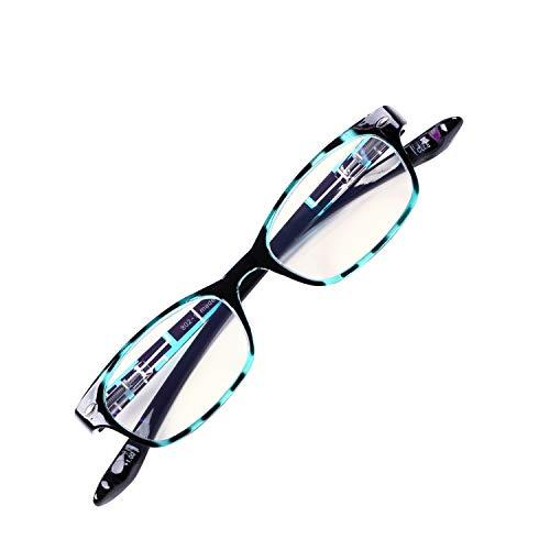 首に掛けられる老眼鏡 NEW Hold Neck 802 ホールドネック ブルーライトカット35% プレゼントパッケージ ユニセックス 眼鏡ケース 緩み調整ドライバー付き[PrePiar](ブルー・+2.5)