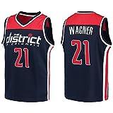 CNMDG Wizards 21 # Moritz Wagner - Camiseta de baloncesto para hombre, 2021 New Season Negro Maillot de baloncesto, camiseta de entrenamiento, chaleco de regalo (S-2XL) XXL