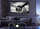 """Airplane Propeller World War 2 US Air Force Aircraft,Sky Poster Wall Decor/Home Decoration Canvas Prints (24"""" HX36 W)"""