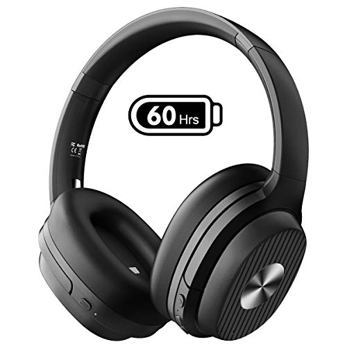 ノイズキャンセリング ヘッドホン Bluetooth 5.0 ワイヤレスヘッドホン 60時間 USB-C CVC8.0 AAC 無線 有線...