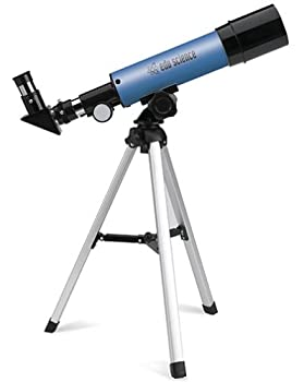 Edu-Science Land and Sky Telescope 90X Power with Table-Top Tripod - Blue
