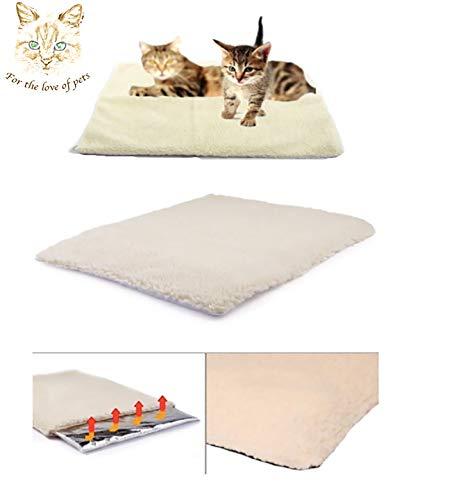 Angel's Pride Wärmedecke für Katzen und Hunde/Selbstheizend/Größe: 64x49cm/Umweltfreundlich & Kuschelig/Heizmatte