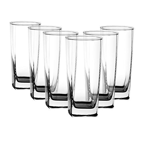 Ocean Plaza Tumbler Set, 320ml, Set of 6, Transparent
