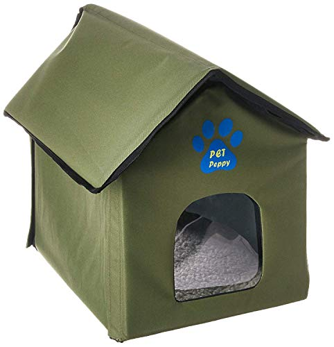 Outdoor/Indoor Cat House by Pet Peppy