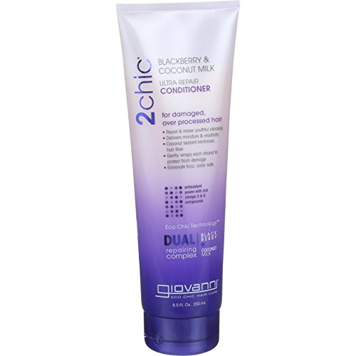 Giovanni Hair Care Products Conditioner 2chic Ultra Repair Blackberry And Coconut Milk 8.5 Oz